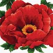 Needleart World Peony Floral No Count Cross Stitch Kit