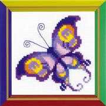 RIOLIS Happy Bee Amethyst Butterfly Cross Stitch Kit