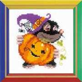 RIOLIS Happy Bee Happy Halloween Cross Stitch Kit