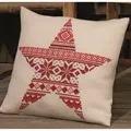 Permin Nordic Star Pillow Christmas Cross Stitch Kit