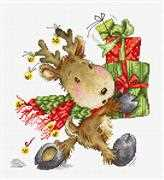 Luca-S Reindeer with Gifts Christmas Cross Stitch Kit