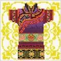 Needleart World Samurai Mauve No Count Cross Stitch Kit
