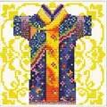 Needleart World Samurai Blue No Count Cross Stitch Kit