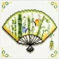 Needleart World Bamboo Fan No Count Cross Stitch Kit