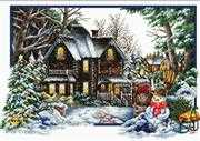 Needleart World Winter Comes Christmas No Count Cross Stitch Kit