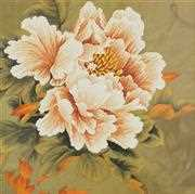 Needleart World Blooming Peony I Floral No Count Cross Stitch Kit