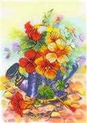 RIOLIS Garden Watering Can Floral Cross Stitch Kit