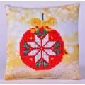 Needleart World Red Bauble Pillow Diamond Dotz Craft Kit Christmas Craft Kit