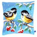 Vervaco Two Winter Birds Cushion Christmas Cross Stitch Kit