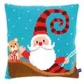 Vervaco Happy Santa Cushion Christmas Cross Stitch Kit