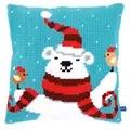 Vervaco Happy Christmas Bear Cushion Cross Stitch Kit