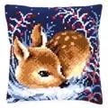 Vervaco Little Deer Cushion Christmas Cross Stitch Kit