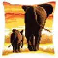 Vervaco Elephants Cushion Cross Stitch Kit