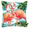 Vervaco Flamingos Cushion Cross Stitch Kit