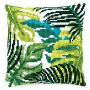 Vervaco Tropical Leaves Cushion Floral Cross Stitch Kit