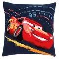 Vervaco Lightning McQueen Cushion Cross Stitch Kit