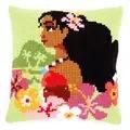 Vervaco Island Girl Cushion Cross Stitch Kit