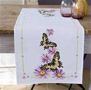 Vervaco Butterfly Runner Cross Stitch Kit