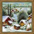 RIOLIS Wintery Serbian Village Christmas Cross Stitch Kit
