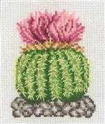 Permin Cactus with Pink Flower Floral Cross Stitch Kit