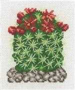 Permin Cactus with Red Flower Floral Cross Stitch Kit