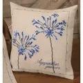 Permin Agapanthus Cushion Floral Cross Stitch Kit