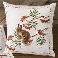 Permin Rowanberry Cushion Cross Stitch Kit