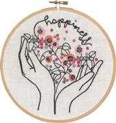Permin Happiness Floral Embroidery Kit