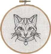 Permin Geo-Cat Embroidery Kit