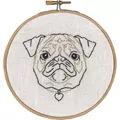 Permin Geo-Pug Embroidery Kit