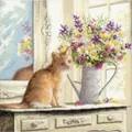 Dimensions Kitten in Window Cross Stitch
