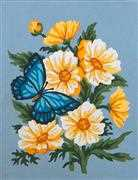Grafitec Butterfly Bouquet Floral Tapestry Canvas