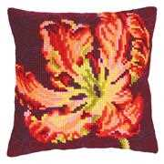 Collection D'Art Red Tulip I Floral Cross Stitch Kit