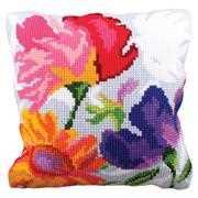 Collection D'Art Stylish Flowers II Floral Cross Stitch Kit