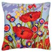 Collection D'Art Red Poppies I Floral Cross Stitch Kit