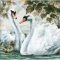 RIOLIS White Swans Cross Stitch Kit