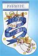 Design Works Crafts Peace on Earth Stocking Christmas Cross Stitch Kit