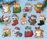 Design Works Crafts Holiday Cats Ornaments Christmas Craft Kit