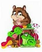 RIOLIS Hamster and Toad Cross Stitch Kit