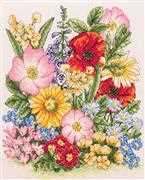 Anchor Meadow Flowers Floral Cross Stitch Kit