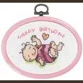 Permin Baby Girl Mini 3 Birth Sampler Cross Stitch Kit
