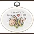 Permin New Baby Mini 3 Birth Sampler Cross Stitch Kit
