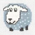 Permin Sheep Cross Stitch Kit