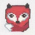 Permin Little Fox Cross Stitch Kit