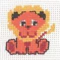 Permin Lion Cross Stitch Kit