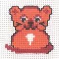 Permin Ginger Cat Cross Stitch Kit