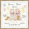RIOLIS Twins Birth Announcement Birth Sampler Cross Stitch Kit