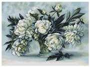 Luca-S Peonies - Petit Point Floral Tapestry Kit