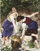 Luca-S At the Fountain - Petit Point Tapestry Kit