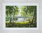 Luca-S Native Birches in the Light - Petit Point Tapestry Kit
